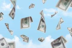 Dollarbankbiljetten het Vallen Royalty-vrije Stock Afbeeldingen