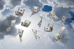 Dollarbankbiljetten het Vallen Stock Afbeeldingen
