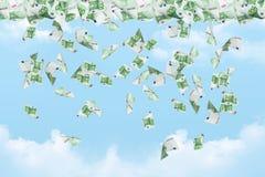 Dollarbankbiljetten het Vallen Royalty-vrije Stock Fotografie
