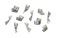 Dollarbankbiljetten het Vliegen Stock Foto