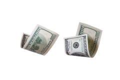 Dollarbankbiljetten het Vliegen Stock Afbeeldingen