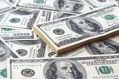 Dollarbanknote-Geldhintergrund stockbild