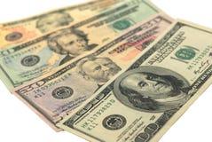 Dollarbanknote-Geldhintergrund lizenzfreie stockfotografie