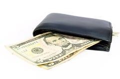 Dollarbanknote und -mappe Lizenzfreies Stockfoto