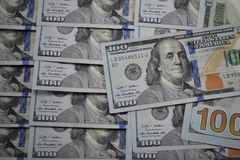 100 Dollarbanknoten der USA Stockfotografie