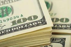 Dollarbanknoten-Geldhintergrund Lizenzfreies Stockbild