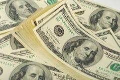 Dollarbanknoten-Geldhintergrund lizenzfreie stockfotografie