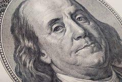 Dollarbanknoten-Geldhintergrund Stockbild