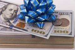 Dollarbanknoten und -münzen lizenzfreie stockbilder