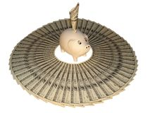 dollarcirkel Arkivbild