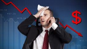 Dollarcrisis royalty-vrije stock afbeelding