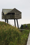 Dutch birdwatching cabin near Nieuw Statenzijl Royalty Free Stock Photography
