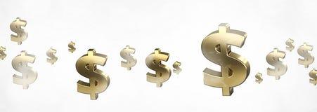 Dollardollar 3d übertragen Usd Dollar Lizenzfreie Stockbilder