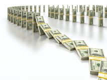 Dollardomino Lizenzfreie Stockfotos