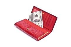 dollaren bemärker plånboken Royaltyfria Bilder