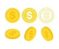 Dollaren 3d sänker isometriska pengar Royaltyfri Fotografi