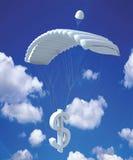 dollaren hoppa fallskärm Arkivfoton