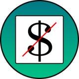 Dollaren korsas ut Royaltyfri Fotografi