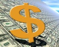 Dollaren undertecknar arkivfoto