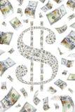 Dollaren undertecknar Royaltyfri Bild