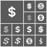 Dollaren undertecknar Royaltyfri Illustrationer