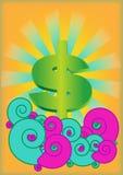 Dollaren vinkar på royaltyfri illustrationer
