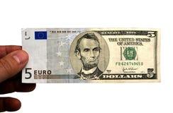 dollareuro royaltyfria bilder