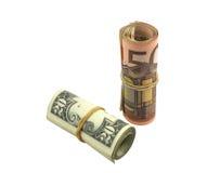 dollareuro som ökar över värde Arkivfoto
