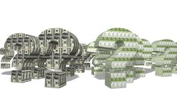 dollareuro vs arkivbilder