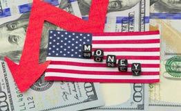Dollarfälle Lizenzfreie Stockfotografie