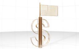 dollarflagga Royaltyfri Bild