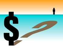 Dollarfrage Lizenzfreie Stockfotos