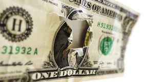 Dollargat Royalty-vrije Stock Foto