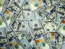 Dollargeld Dollarbargeldhintergrund Dollargeldbanknoten stockbilder