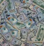 Dollargeldbanknoten-Beschaffenheitshintergrund Lizenzfreies Stockfoto