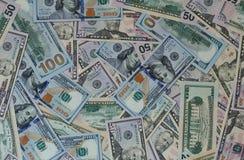 Dollargeldbanknoten-Beschaffenheitshintergrund Stockbild