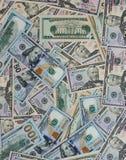 Dollargeldbanknoten-Beschaffenheitshintergrund Stockfoto