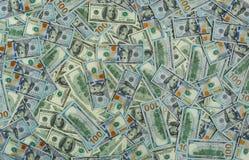 Dollargeldbanknoten-Beschaffenheitshintergrund Lizenzfreies Stockbild