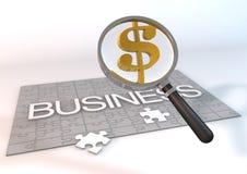 DollarGlass-zaken Royalty-vrije Stock Afbeeldingen