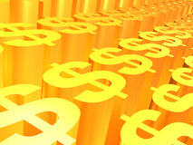 Dollargoldzeichen Stockfoto