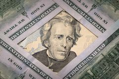 20 dollari americani Fotografie Stock