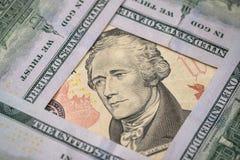 10 dollari americani Fotografia Stock