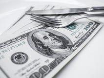 Dollari americani americani Immagini Stock