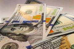 Dollari americani Banconote dei soldi Bill delle banconote in dollari di soldi Immagine Stock