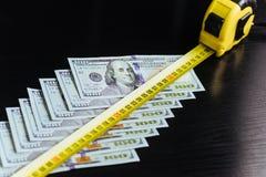 Dollari americani Cento banconote del dollaro, 100 Fotografie Stock Libere da Diritti