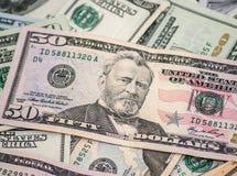 Dollari americani come fondo Fotografia Stock Libera da Diritti