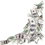 Dollari americani di caduta Fotografie Stock Libere da Diritti