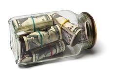 Dollari americani di fatture e monete Fotografie Stock Libere da Diritti