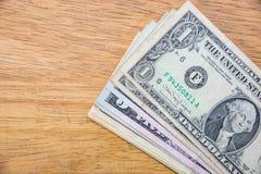 Dollari americani di mucchio dei contanti Fotografie Stock