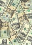 Dollari americani di priorità bassa Fotografia Stock Libera da Diritti